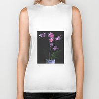 orchid Biker Tanks featuring Orchid by Daria Krol