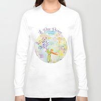 le petit prince Long Sleeve T-shirts featuring Le Petit Prince- The little Prince flying by Colorful Simone