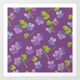 Forest Violet Art Print