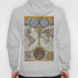 Old World Map print from 1794 Hoody