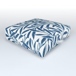 William Morris Navy Blue Botanical Pattern 9 Outdoor Floor Cushion