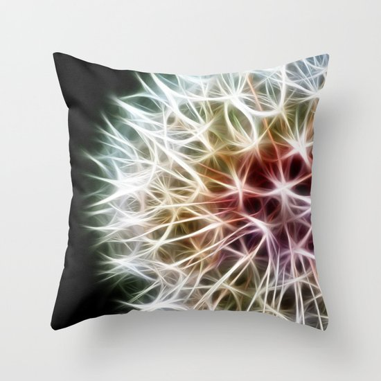 Fractal dandelion Throw Pillow