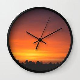 SUNRISE - SUNSET - ORANGE SKY - PHOTOGRAPHY Wall Clock