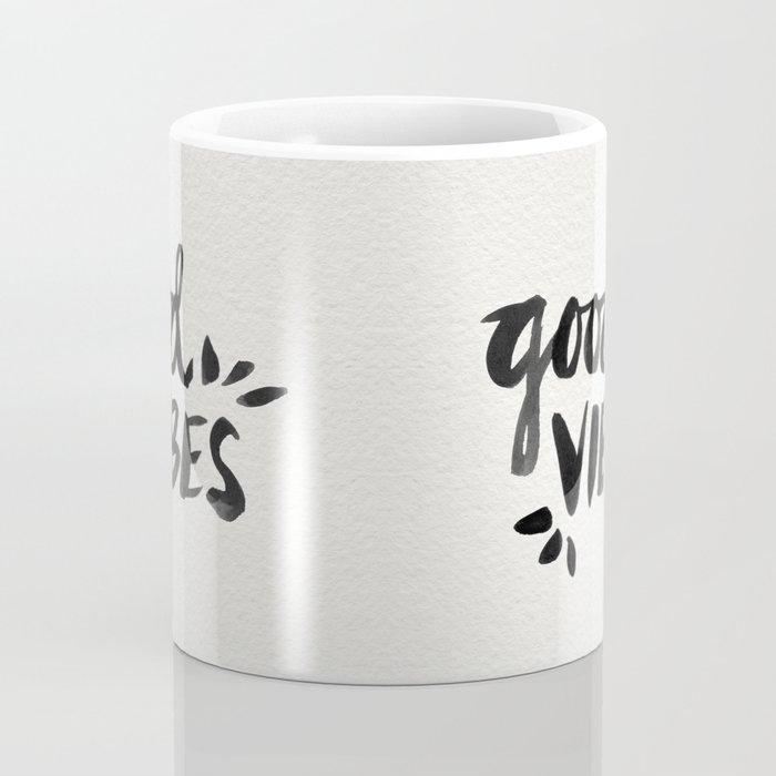 Good Vibes – Black Ink Coffee Mug