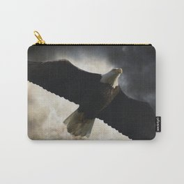 Soaring Eagle in Stormy Skies Carry-All Pouch