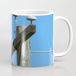 Red Tailed Hawk on Telephone Pole 1 Coffee Mug