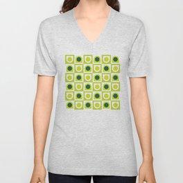 Geometric Pattern #210 (lime green) Unisex V-Neck