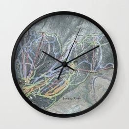 Sunday River Resort Trail Map Wall Clock