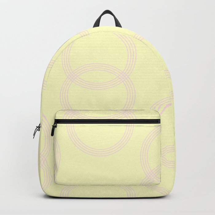 Simply Infinity Link Pink Flamingo on Pale Yellow Backpack