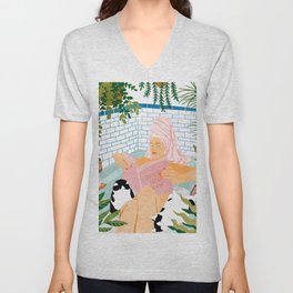 How To Have A Spa Day At Home #illustration Unisex V-Neck
