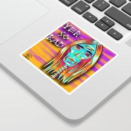 Yer So Bad Rockstar Skull Art Illustration Sticker