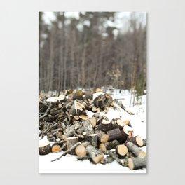 Wood Pile Canvas Print