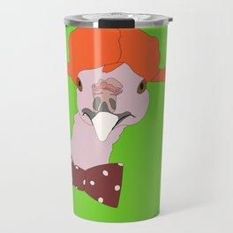 Spunky Turkey Orange Hair GB Travel Mug