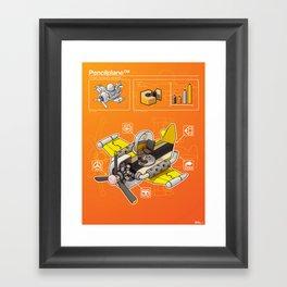 Pencilplane II : Infographic Framed Art Print