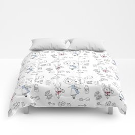 """Curiouser and Curiouser"" Comforters"