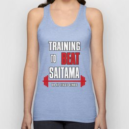 Training to beat saitama Unisex Tank Top