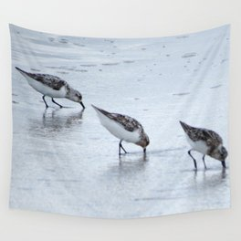 Three Sandpipers Wall Tapestry