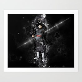 Black Goku Art Print