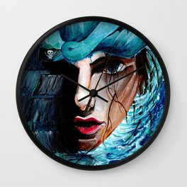 A Girl, a Pearl and a Sparrow Wall Clock