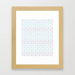 Anchors and Waves Framed Art Print