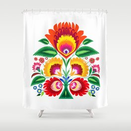 Folk flowers Shower Curtain