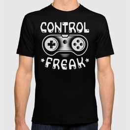 Control Freak Funny Gaming Video Games Quote Gift T-shirt