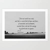 jane eyre Art Prints featuring Jane Eyre World by KimberosePhotography