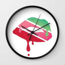 COLOURFUL KISS Wall Clock