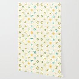 Pastel space pattern Wallpaper