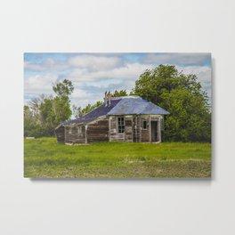 Unusual Abandoned Building, Burleigh County, ND 10 Metal Print