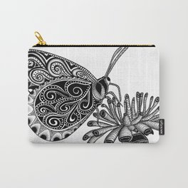 Tangled Butterfly on White Carry-All Pouch