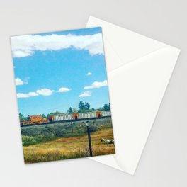 Horse and Train Stationery Cards