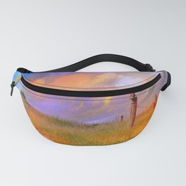 Birdhouse on Post PhotoArt Fanny Pack