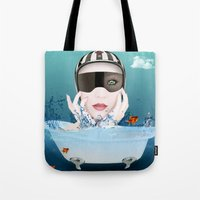 3d Tote Bags featuring 3D by mark ashkenazi