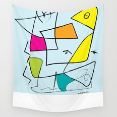 bird and open box Wall Tapestry