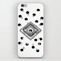 cycling iPhone & iPod Skins featuring Contingency Cycling by Night Version
