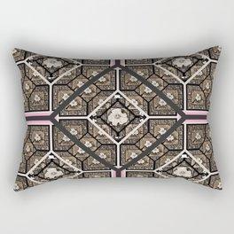 Cherokee Rose Pattern 2 black brown pink Rectangular Pillow