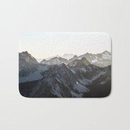 Mountains in Winter Bath Mat