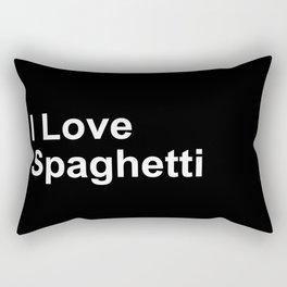 I Love Spaghetti Rectangular Pillow