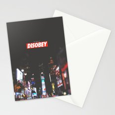 we need to DISOBEY Stationery Cards