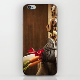 Shoe with carrots, for traditional Dutch holiday 'Sinterklaas' iPhone Skin