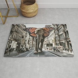 Lost Butterphant in NYC Rug