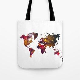 World Map mountain Tote Bag
