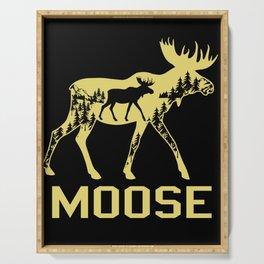 Moose Deer Reindeer Canadian Moose Elk Stag Antler Serving Tray