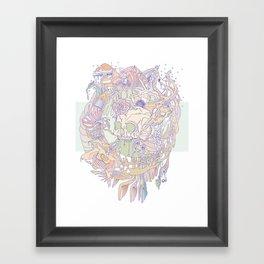 bone & beauty Framed Art Print