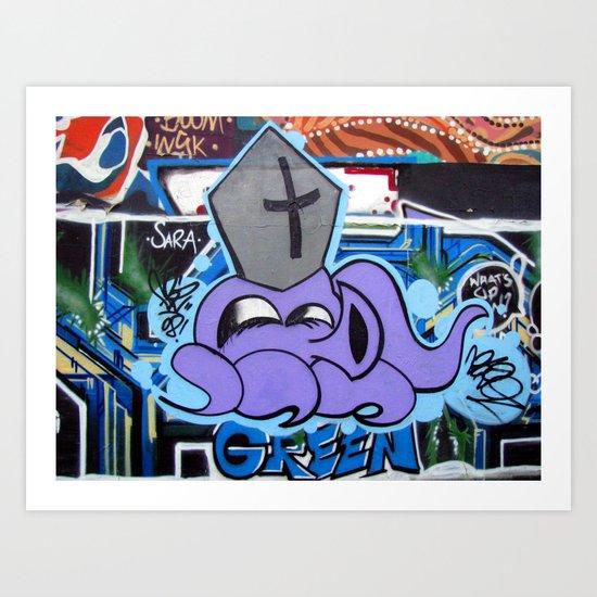 Squid Pope Art Print