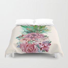 Floral Pineapple Duvet Cover