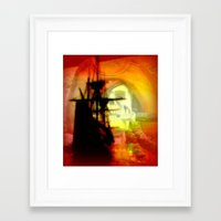 pirate ship Framed Art Prints featuring Pirate Ship by elkart51