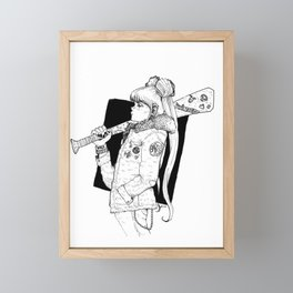Bad Usagi - Sailor Moon Fanart Framed Mini Art Print