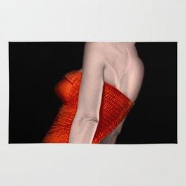 Marilyn: Vintage Rare Print in a Red Bathing Suit Rug